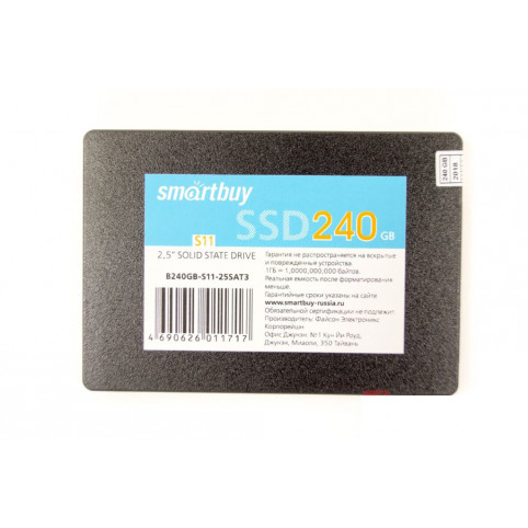 Обзор SSD накопителя Smartbuy S11 PS3111 240GB TLC (SB240GB-S11-25SAT3)