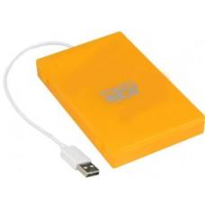 "Внешний корпус для жестких дисков AgeStar SUBCP1 2.5""SATA HDD/SSD, пластик, оранжевый USB2.0"
