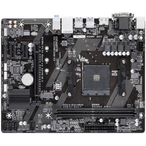 Материнская плата Gigabyte GA-A320M-S2H (sAM4, AMD A320, PCI-Ex16)