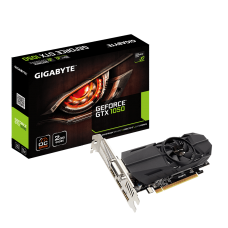 Видеокарта Gigabyte PCI-Ex GeForce GTX 1050 OC Low Profile 2GB GDDR5 (128bit) (1366/7008) (DVI, 2 x HDMI, DisplayPort) (GV-N1050OC-2GL)