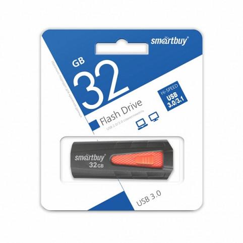 USB 3.0 32 GB Smartbuy IRON Black/Red
