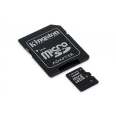 Карта памяти microSDHC [класс 4] 16 GB Kingston+SD адаптер (SDC4/16GB)