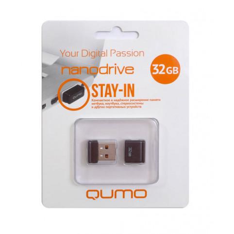 USB 2.0 32 GB Qumo Nano Black
