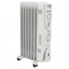 Масляный радиатор DELTA D25F-7 серый, 1500кВт