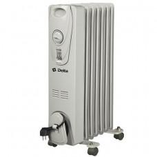 Масляный радиатор DELTA D25-7 серый, 1500кВт