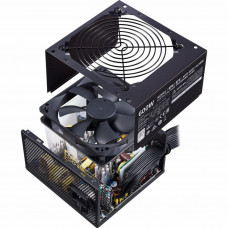 Блок питания 600 Вт Cooler Master MWE White Power Supply, 600W, ATX, 120mm, 6xSATA, 4xPCI-E(6+2), APFC, 80+ White MPE-6001-ACABW-EU