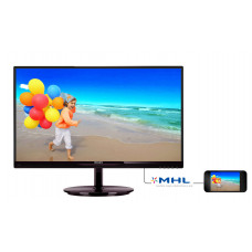 "МОНИТОР 21.5"" PHILIPS 224E5QHSB/00(01) Black-Cherry (AH-IPS, 1920x1080, 5 ms, 178°/178°, 250 cd/m, 20M:1, +HDMI, +HDMI)"