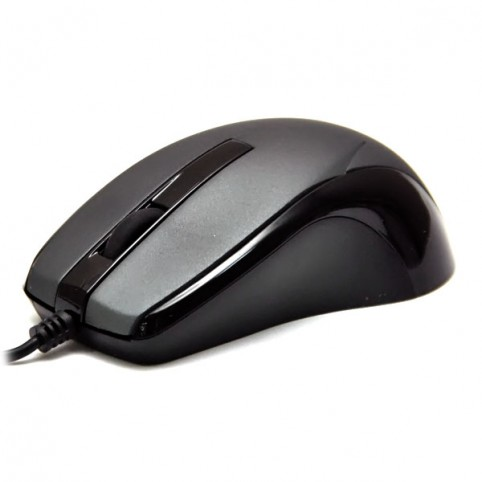 Мышь DeTech DE-3088 Rubber&Shiny Black