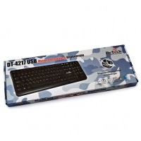 Клавиатура DeTech K4217 Black USB