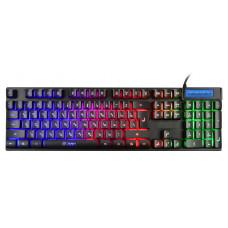 Клавиатура игровая Oklick 760G GENESIS черный USB for gamer LED