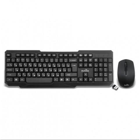 DeTech Wireless Combo DЕ-301W - беспроводные клавиатура + мышь