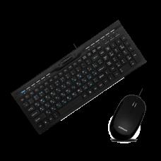 Комплект клавиатура+мышь Crown CMMK-855, slim, USB