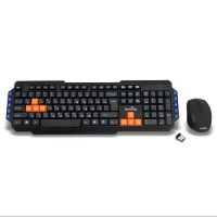 Комплект беспроводной игровой клавиатуры с мышью DETECH DЕ-304W