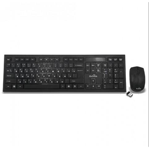 Комплект беспроводной клавиатуры с мышью DETECH DЕ-601W