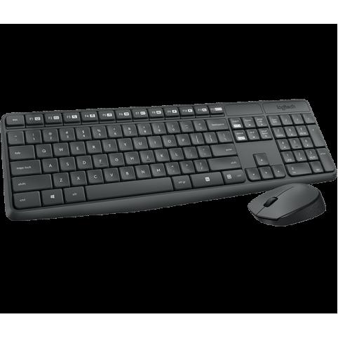 Клавиатура+мышь беспроводная Logitech Wireless Desktop MK235 Grey Retail