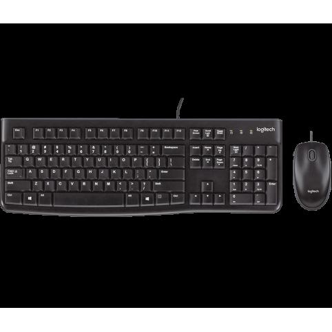 Комплект (клавиатура + мышь) Logitech Desktop MK120 Black