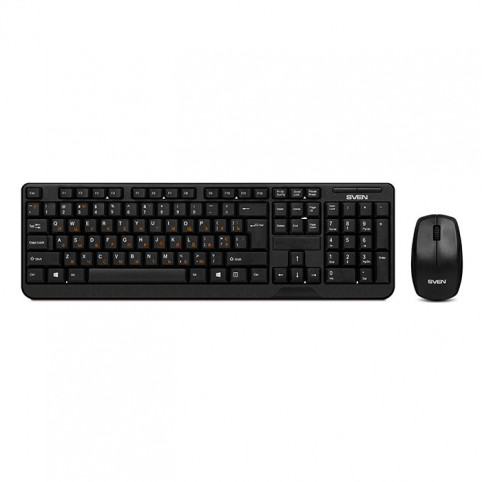 Беспроводной набор клавиатура+мышь SVEN Comfort 3300 Wireless / SV-03103300WB /