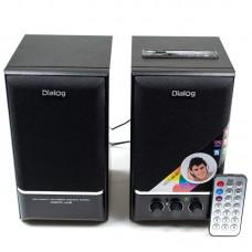 Колонки Dialog 2.0 AD-07 24W RMS, FM радио, USB+microSD reader, ПДУ дерево, чёрный