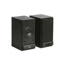 Колонки деревянные SVEN АС SPS-607 (6 Вт), чёрный / SV-0120607BL /
