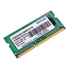 SODIMM DDR3 4GB PC3-1600 PATRIOT PSD34G1600L81S 1.35V